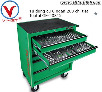 Tủ đồ nghề 6 ngăn 208 chi tiết Toptul GE-20815
