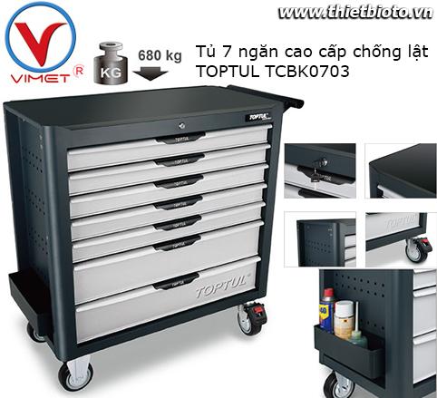 Tủ dụng cụ 7 ngăn cao cấp chống lật TOPTUL TCBK0703