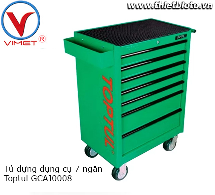 Tủ đựng đồ nghề 7 ngăn 229PCS Toptul GCAJ0008