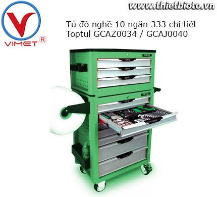Tủ đồ nghề 2 tầng 10 ngăn 333 chi tiết  GCAZ0034 và GCAJ0040
