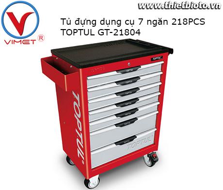 Tủ đựng đồ nghề 7 ngăn 218PCS Toptul GT-21804