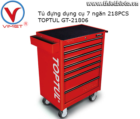 Tủ đựng đồ nghề 7 ngăn 218PCS Toptul GT-21806