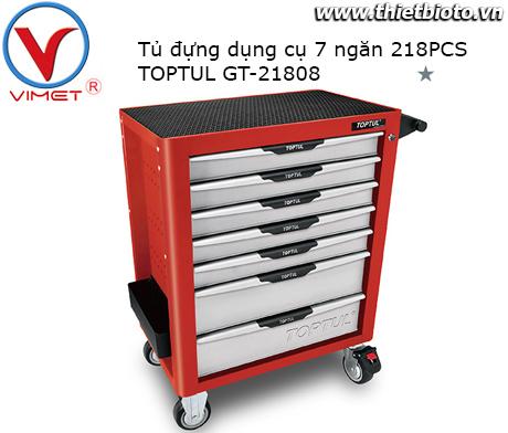 Tủ đồ nghề 7 ngăn 218 chi tiết Toptul GT-21808