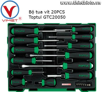 Bộ tua vít 20 chi tiết Toptul GTC2005