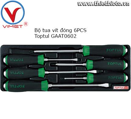 Bộ tua vít đóng 6 chi tiết Toptul GAAT0602