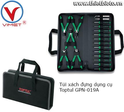 Bộ túi dụng cụ 19 chi tiết Toptul GPN-019A