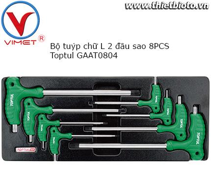 Bộ tuýp chữ L 2 đầu sao 8 chi tiết Toptul GAAT0804