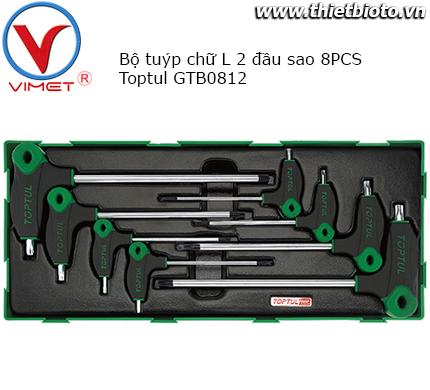 Bộ tuýp chữ L 2 đầu sao Toptul GTB0812