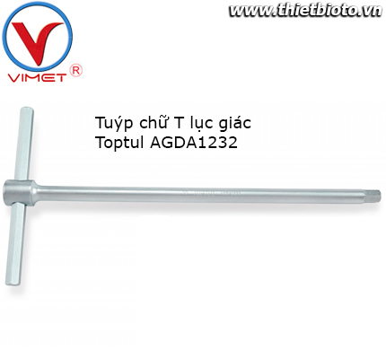 Tuýp chữ T đầu lục giác Toptul AGDA1232